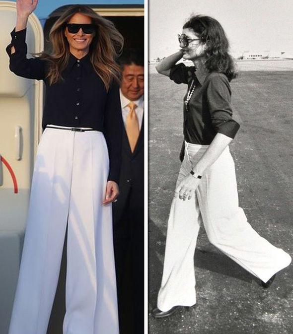 Melania-Trump-Jackie-Kennedy-white-trousers-1108767